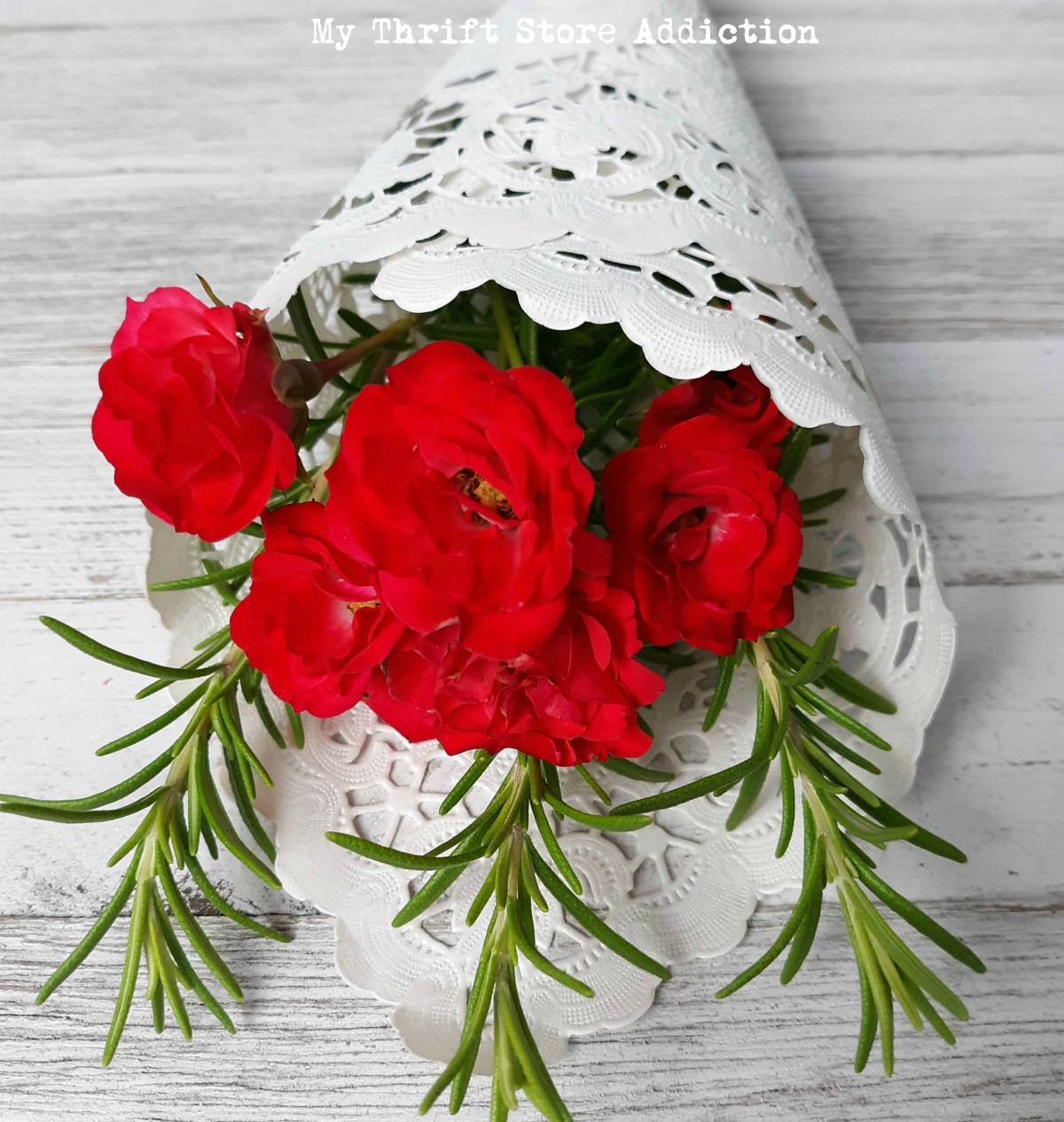 how to craft a rosy posy