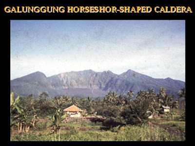 Horse-shoe shaped G. Galunggung