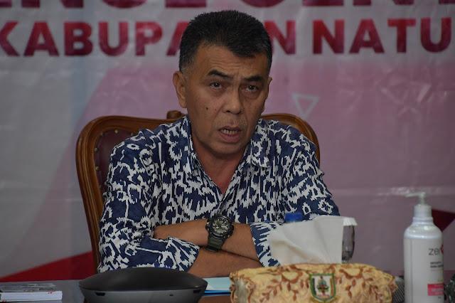 Bupati Natuna Memimpin Rapat Koordinasi tentang Pemberlakuan PPKM dan Penanganan Covid-19  Melalui Video Conference