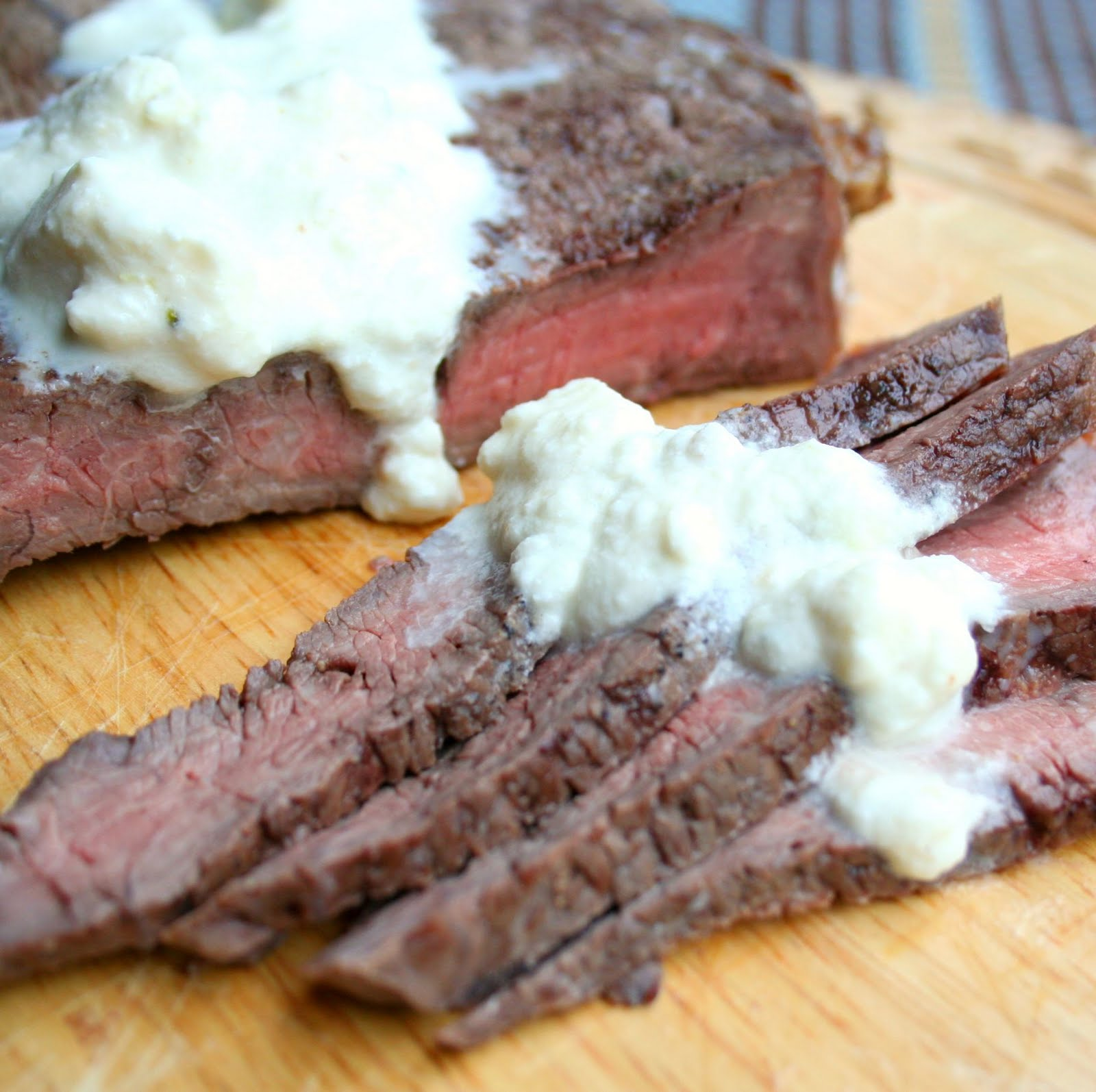 London Broil With Creamy Blue Cheese Horseradish Sauce All Day I Dream About Food