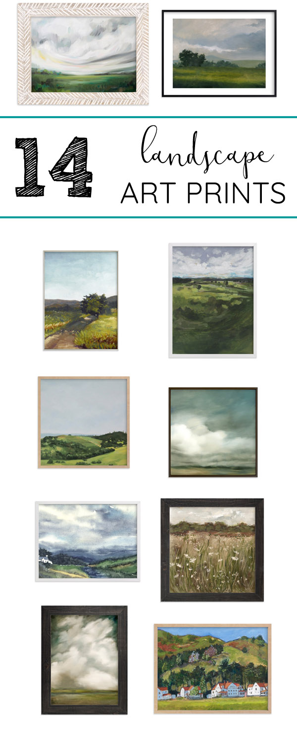 14 Landscape art prints and paintings