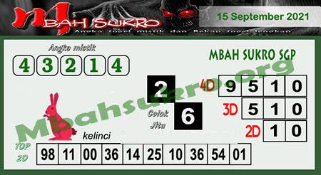 Syair SGP Rabu 15 September 2021