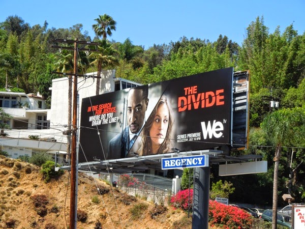 The Divide series premiere billboard