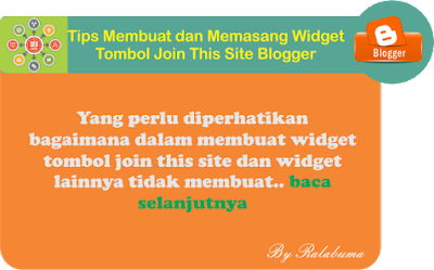 memasang tombol join this site di blogger