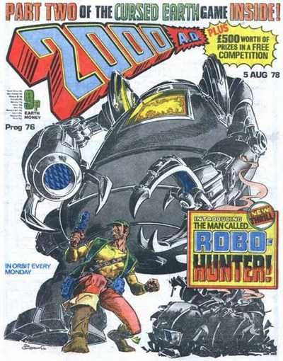 2000 AD Prog 76, first appearance of Robo-Hunter