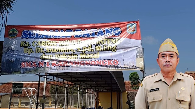 Dalam Rangka PTM, SMAN 1 Karangnongko Mengadakan Vaksinasi Massal