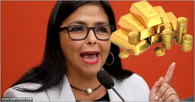 Delcy acusa al Banco de Inglaterra de querer quedarse con el Oro de Nicolás Maduro