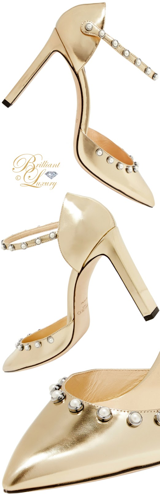 Brilliant Luxury ♦ Jimmy Choo Leema metallic leather pumps