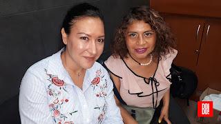 Melanie Rosas y Liz Vado.