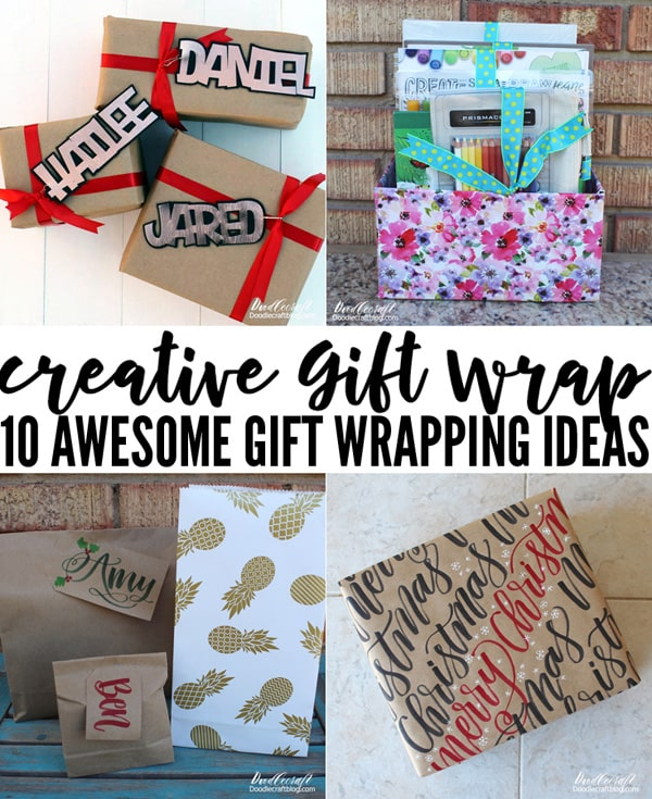 10 Awesome Creative Gift Wrapping Ideas for the Holidays, birthday's or Christmas wrapping