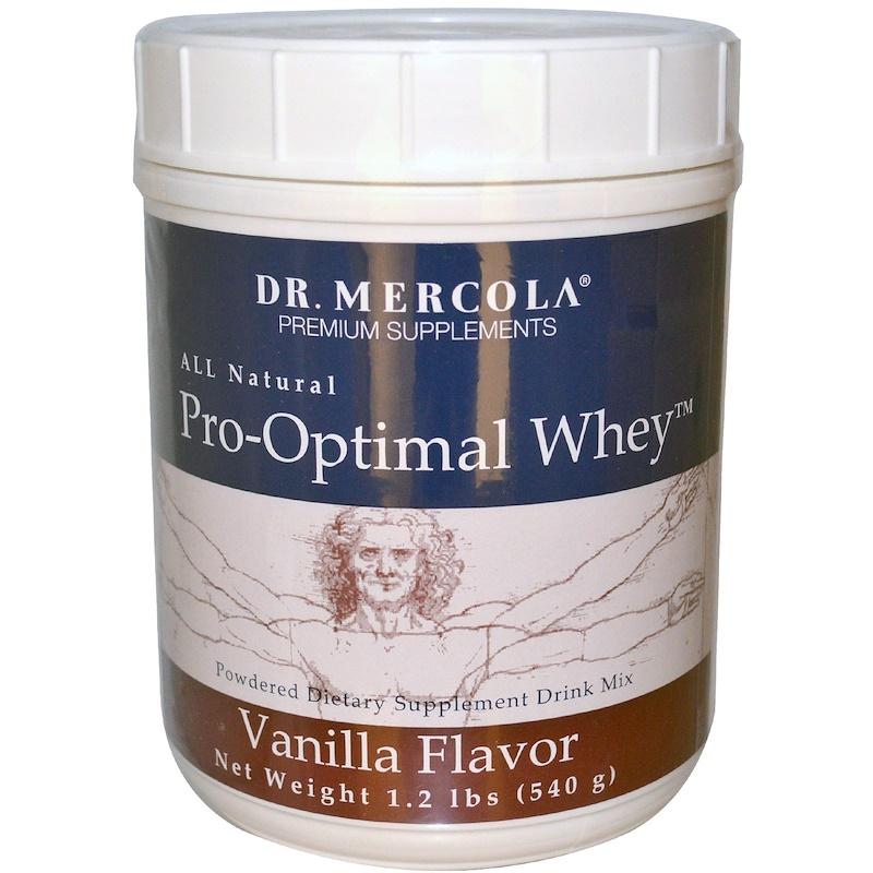 Dr. Mercola, Про-Оптимальный сывороточный протеин со вкусом ванили, 1,2 фунта (540 г)