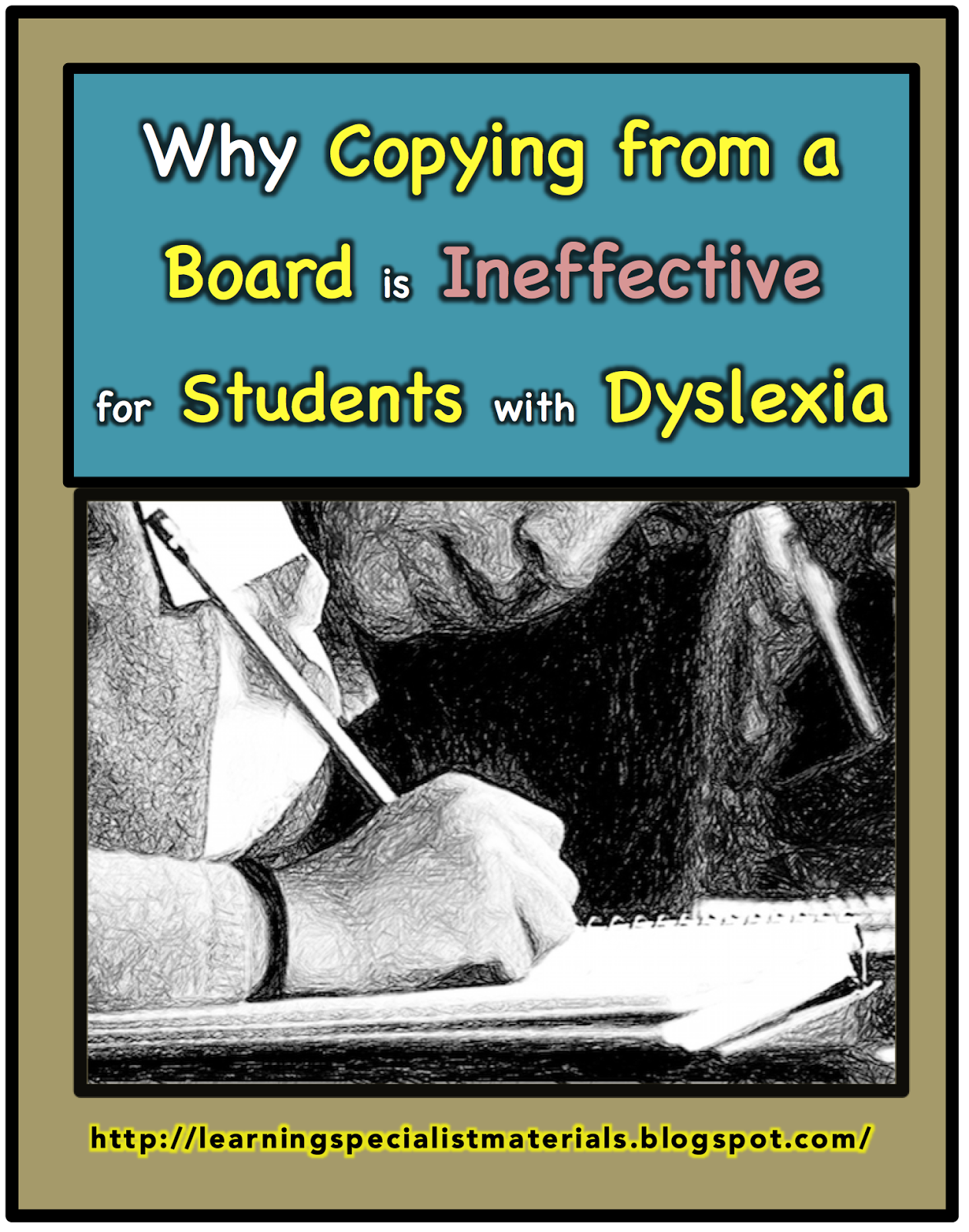 Dyslexia and taking notes