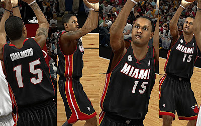 NBA 2K13 Miami Heat Default Away Jersey Mods