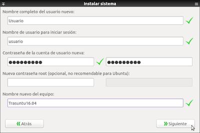 Systemback Instalar sistema usuario nuevo