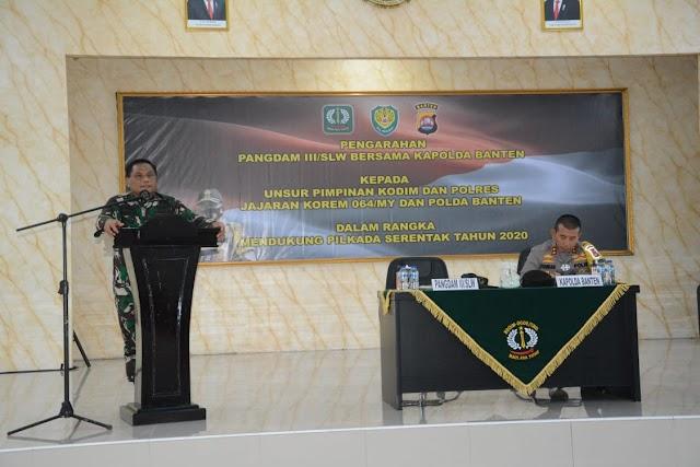 Jaga Netralitas, Pangdam III/Slw Bersama Kapolda Banten Beri Arahan Kepada Dandim Dan Kapolres Banten