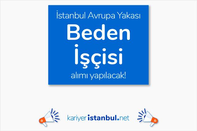 İstanbul Avrupa Yakası Silivri'de jant kapağı üretimi yapan fabrikaya beden işçileri alınacak. Detaylar kariyeristanbul.net'te!