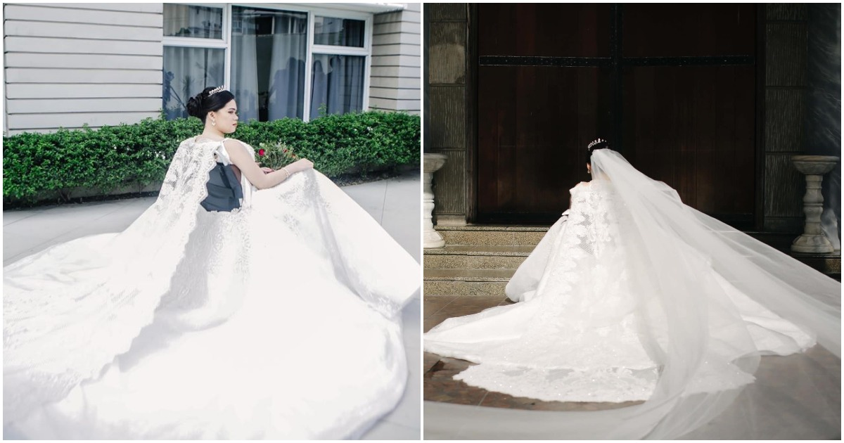PWD bride praises designer for customized gown that included her wheelchair in design