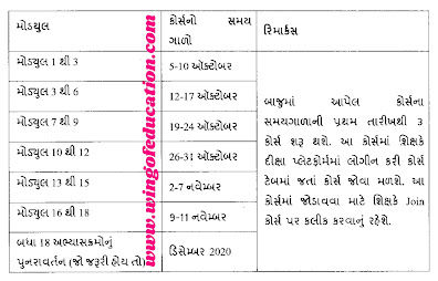 NISHTA Online Talim Timetable - www.wingofeducation.com