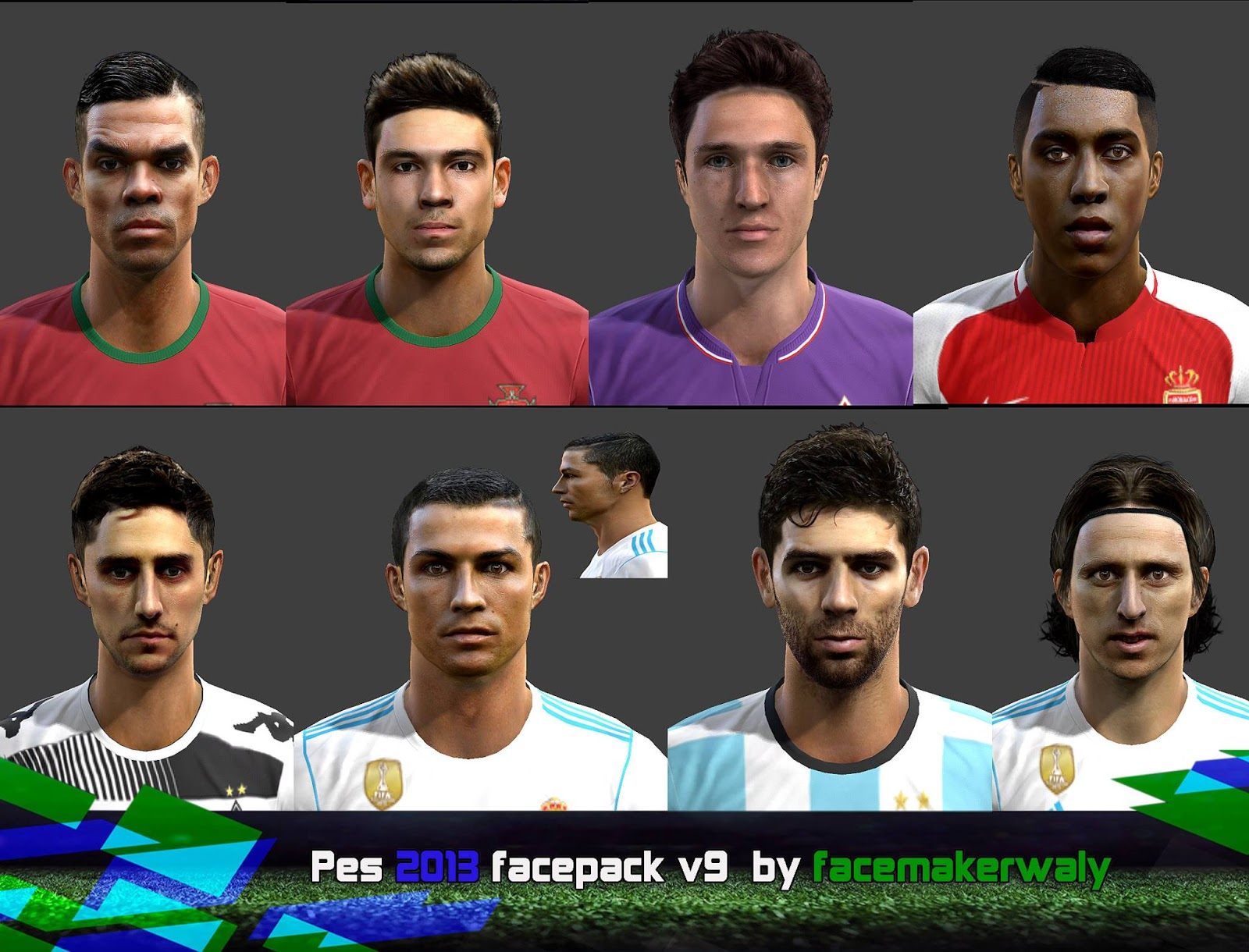PES 2013 Facepack V9 By Facemaker Waly
