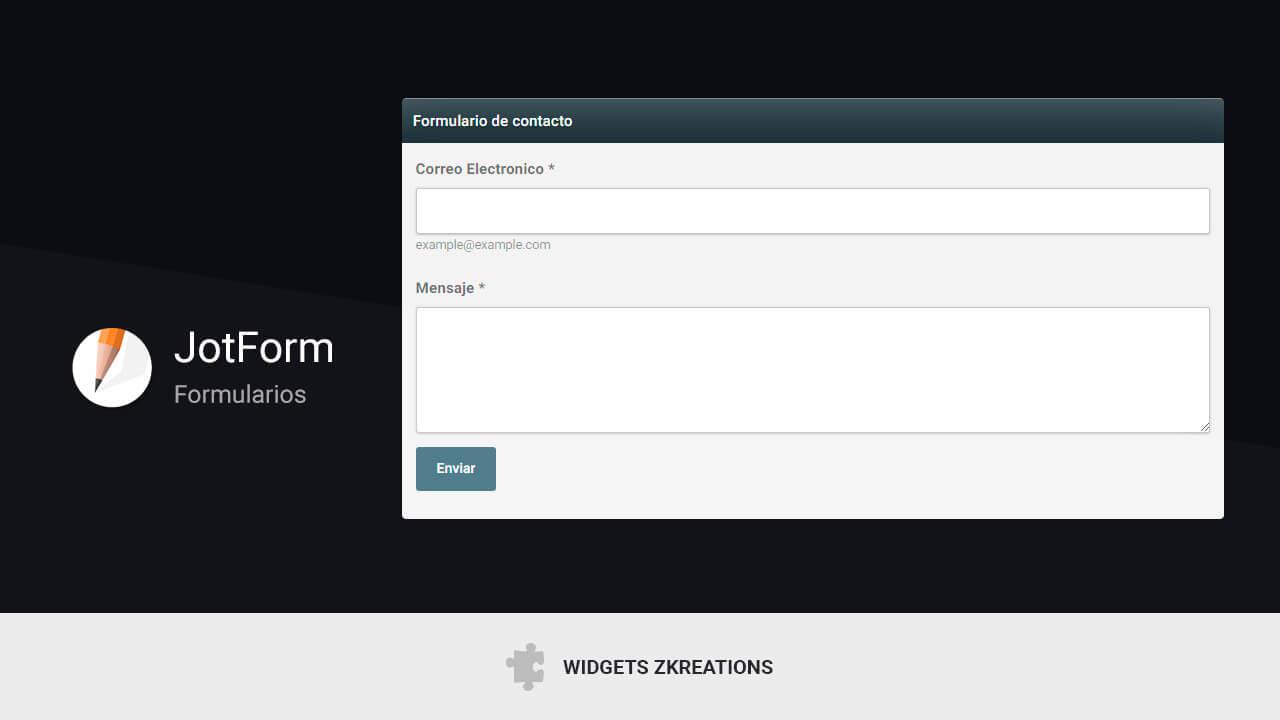 jotform formulario gratis Blogger