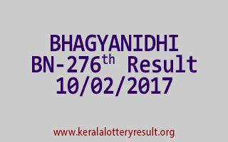 BHAGYANIDHI BN 276 Lottery Results 10-02-2017