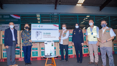 Bantu Penanganan COVID-19, Tanoto Foundation Donasikan 3.000 Unit Oxygen Concentrator