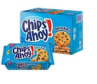 Biskuit keempat terlaris berikutnya yaitu biskuit Chips Ahoy. Masih dalam jenis yang sama yaitu biskuit varian cookies, Chips Ahoy biskuit memiliki taburan butiran cokelat di bagian atasnya, dan sangat digemari oleh masyarakat luar.