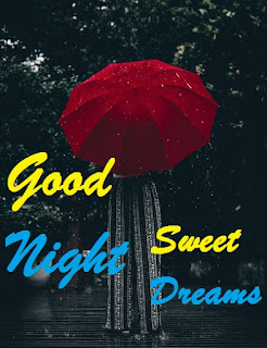 beautiful rain good night images