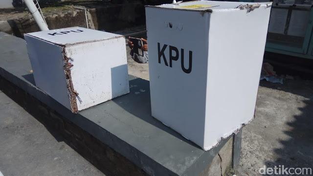 Sejumlah Kotak Suara Pemilu di Blora Rusak Dimakan Rayap
