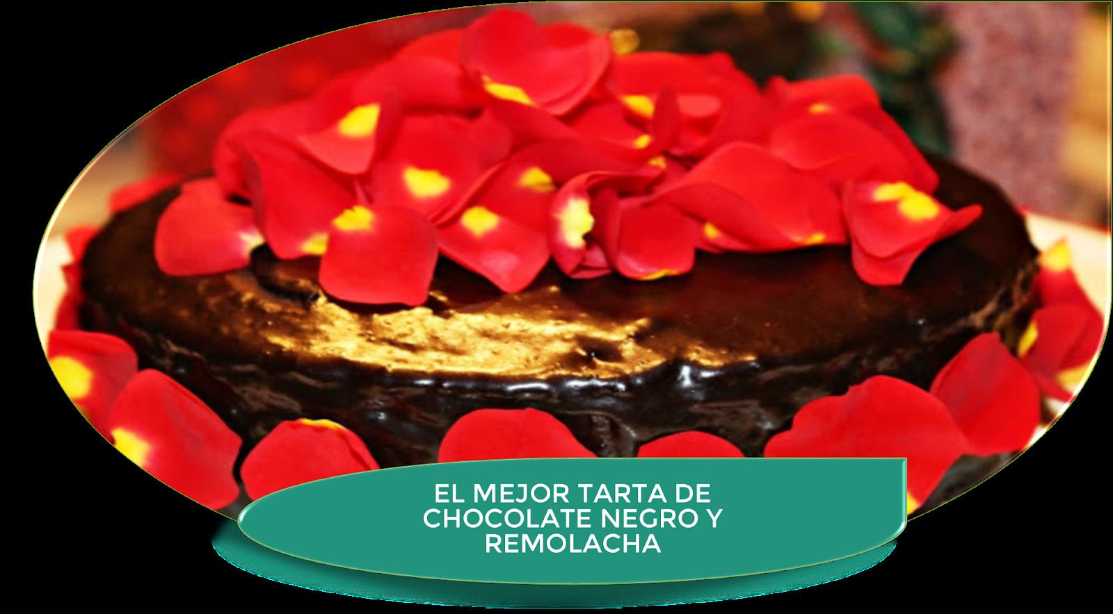 LA MEJOR TARTA DE CHOCOLATE NEGRO Y REMOLACHA {MUY RICA}