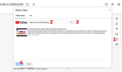 Memasukan video ke Google Form