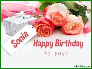 Happy Birthday Sonia