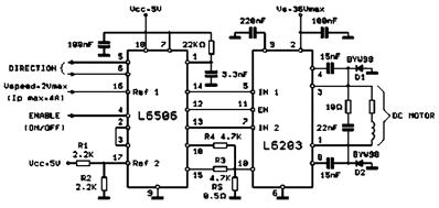 L6203 Bidirectional DC Motor Control Circuit Diagram