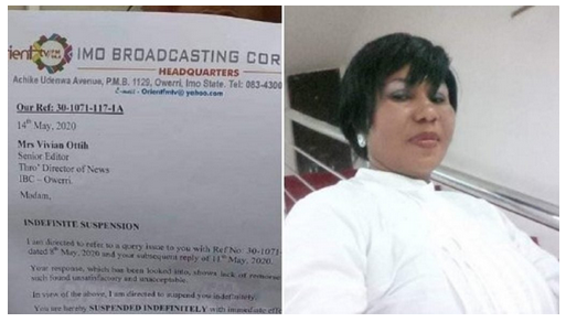See Why Imo State Govt. Suspended This Female Broadcaster