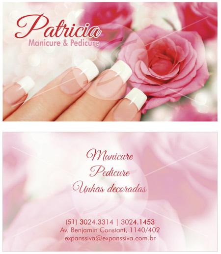 cartao de visita manicure porto alegre - Cartões de Visita para Manicure e Pedicure
