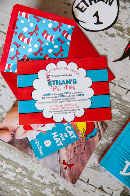 Dr. Seuss First Birthday Party Invitation