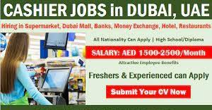 Cashier Jobs Vacancy in  Dubai  Location   Direct Apply