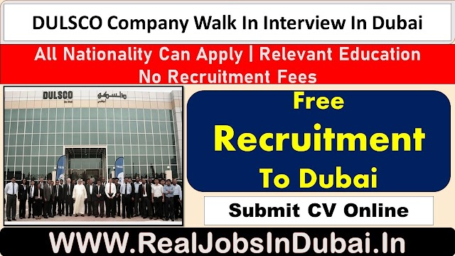 DULSCO Jobs 2021 Latest Walk in Interviews in Dulsco - UAE 2021