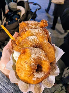 Things to do near Zurich in December: Eat Öpfelchüechli at the Winterthur Christmas Market