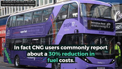 Image shows a bus powered by biomethane via Biomethane Gas to Grid