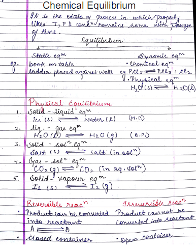 Chemistry Chapterwise Notes (Chemical Equilibrium) : For JEE and NEET Exam PDF Book