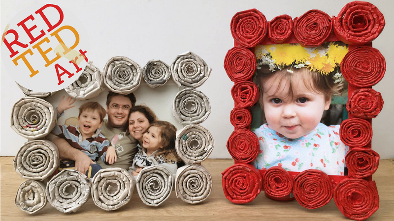 newspaper coil frames for mothers day
