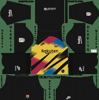 Download Kit DLS Barcelona GoalKeeper Third 2019 - 2020