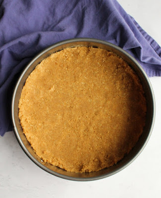 graham cracker crust in analon springform pan