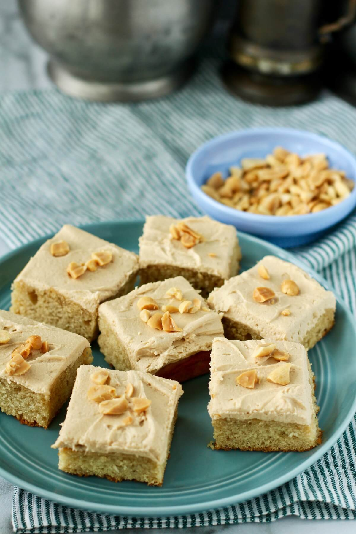 Peanut Butter Snack Cake with peanut butter frosting