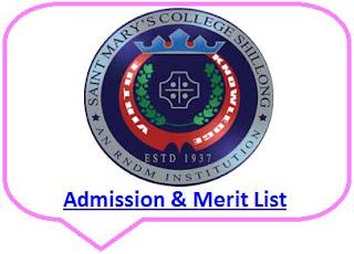 St Mary's College Merit List