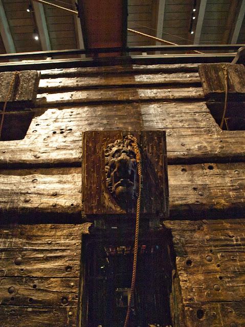 jiemve, Vasa, bâteau, musée, décoration, sabord, tête de lion
