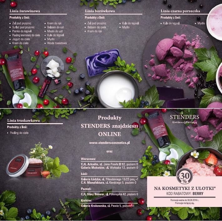 Stenders rabat -30% na kosmetyki z ulotki