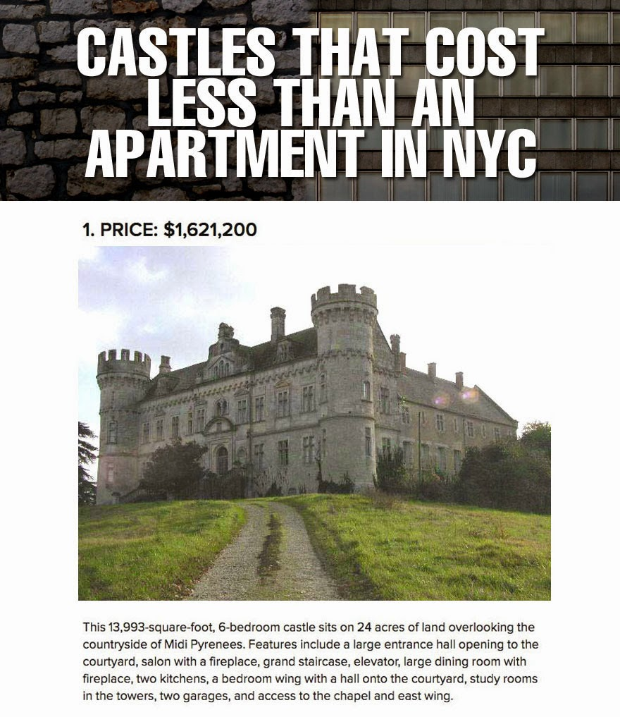 Delta's D&D Hotspot: Castles Vs. New York Apartment Listings