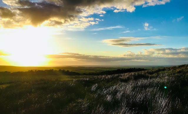 Sunset over Darwen Moors and Roddlesworth Woods